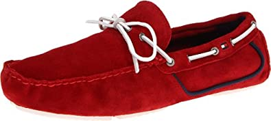 Tommy Hilfiger Men's Dave2 Loafer,Dark Red Suede,7.5 M US