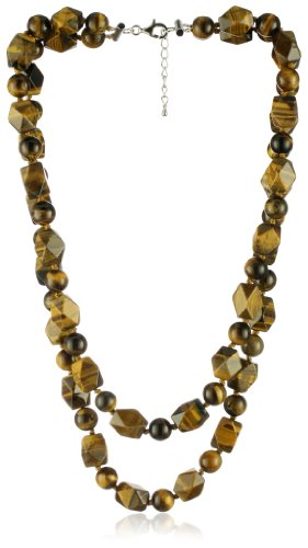 ME Couture ''Sheer Radiance'' Double Strand Tiger Eye Necklace