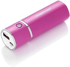 Poweradd Slim 2 Externer Akku 5000mAh Power Bank mit Duo USB Ladesadapter für iPhone 6 6 plus 5S, 5C, 5, 4S, 4, iPads, Samsung Galaxy Note edge, Note 4 Note 3 Note 2, S6 egde, S6 S5 S4 S3 S2, Andere Android Smartphones ,Tablets, Digital Kameras und Mp3 und andere 5V USB-Aufladungsgeräte (rosa)