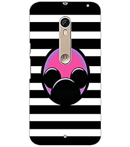 PrintDhaba Mickey Impression D-2001 Back Case Cover for MOTOROLA MOTO X PURE EDITION (Multi-Coloured)