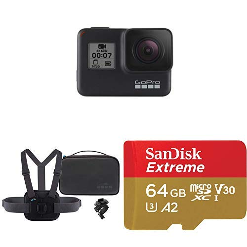 GoPro HERO7 Black + Sports Kit + (1) microSD Card