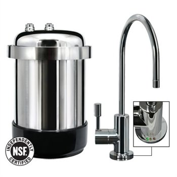 WaterChef U9000 Premium Under-Sink Water Filtration System (Polished Chrome Faucet)