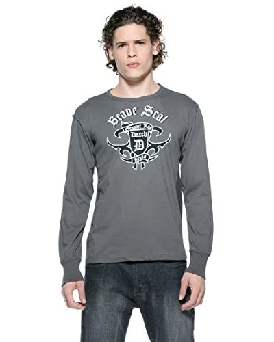 Datch Camiseta Manga Larga Gris