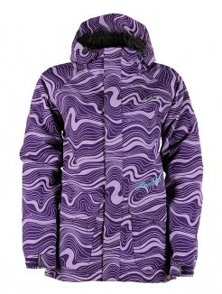 Damen Snowboard Jacke Horsefeathers Miram Jacket Insulated Women purple grid XS