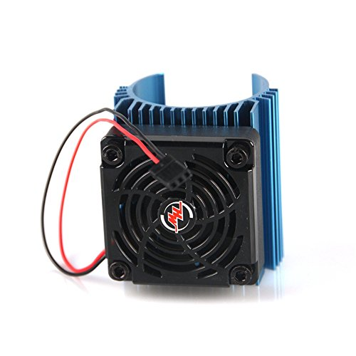 Hobbywing Ezrun 5V C4 Cooling Fan & 44 x 65mm Motor Heat Sink System RC Motor Fan For 1/8 Car#86080130 Blue,Get funshobby decal (60mm System Fan compare prices)