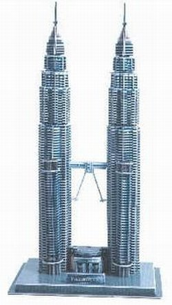 Cheap CALEBOU 3D 3D Malaysia Petronas Twin Towers Puzzle Model (B002Q2EILW)