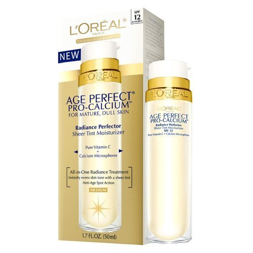 vitamin a sunscreen:Loreal Age Perfect Pro-Calcium Radiance Perfector Sheer Tint Moisturizer, Medium - 1.7 Oz