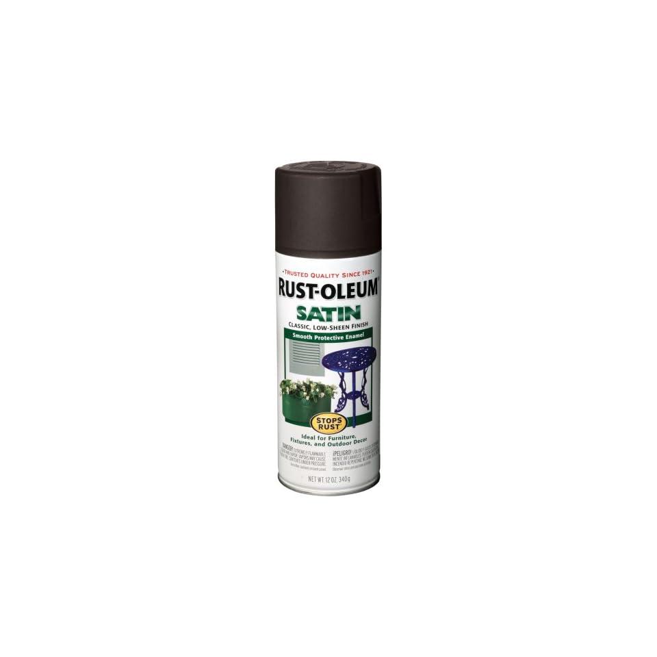 Rust Oleum 7777830 Satin Enamels Spray, Black, 12 Ounce