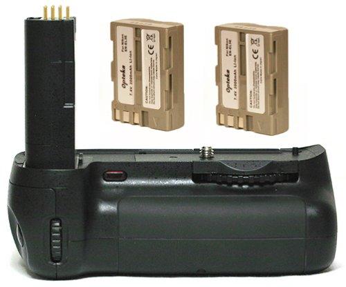 Opteka Battery Pack Grip for Nikon D80 & D90 Digital SLR with 2 EN-EL3e Batteries (4000 mAh Total)