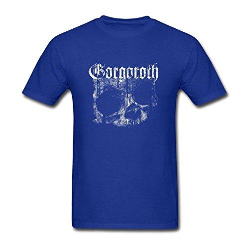 Sixtion Men's Gorgoroth Short Sleeve Cotton T Shirt Royal Blue Small