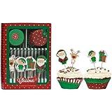 Premier Housewares Deko-Set für Cupcakes, Weihnachtsmotive