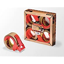 3M Scotch Box Sealing Tape with Dispenser PSD2, 48-Milimeter by 50-Meter