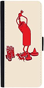 Snoogg Ketchup 2875 Graphic Snap On Hard Back Leather + Pc Flip Cover Lg G4