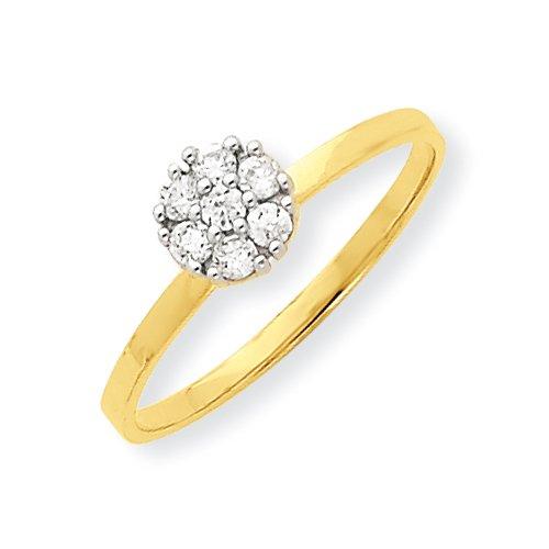 10k CZ Cluster Promise Ring