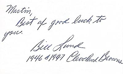 Bill Lund Autographed - Hand Signed Cleveland Browns RARE 3x5 inch Index Card - Case Institute of Technology - Deceased 2008