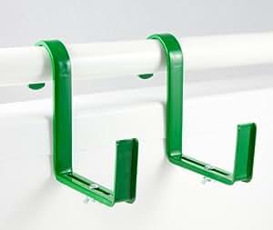 menz blumenkastenhalter 2 paar gr n f r rohrgel nder max durchmesser 5 cm f r. Black Bedroom Furniture Sets. Home Design Ideas