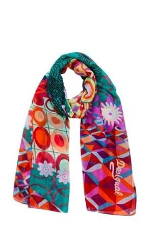 Desigual - annelise - foulard - imprimé - femme - rouge (scarlet) - taille unique