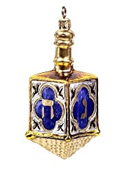 Hanukkah Chanukah Dreidel Polonaise Glass Christmas Ornament