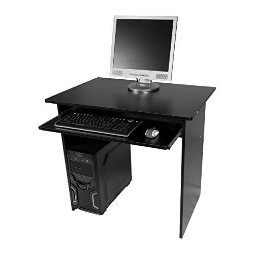 Harima-Humber-Professioneller-Schwarz-Computerwagen-Computertisch-Brotisch-PC-Tisch-Druckerablage-Brombel-Mit-Ausziehbarer-Tastaturablage-Heim-PC-Desktop