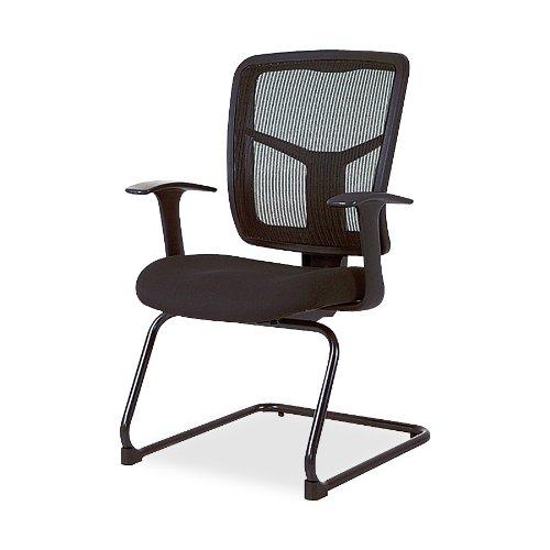"Lorell  Guest Chair, Mesh Fabric, 27""x27-1/2""x41"", Black"