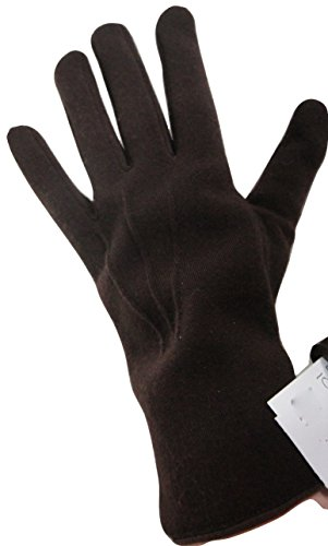john-lewis-dark-brown-textile-gloves-size-medium