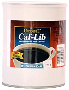 Caf-Lib Caffeine-free Coffee Alternative (175 g Fiber Tins - 87 Cups)