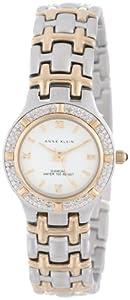 Anne Klein Womens 10/8801WTTT Genuine Diamonds Diamond Accented Two-Tone Bracelet Watch