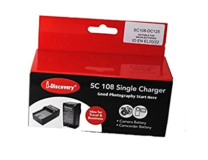 I Discovery SC 108 Battery Charger (For Nikon EN-EL 20 ,EN-EL 22 , EN-EL 21, J1 MH-27)