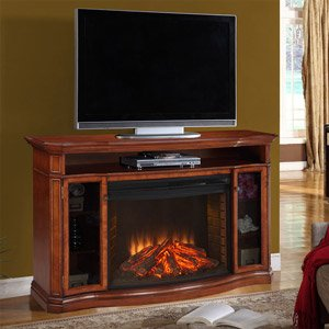 Stewart Media Electric Fireplace in Burnished Pecan picture B006PTHXAA.jpg