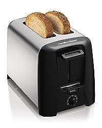 Hamilton Beach Modern Chrome 22614-IN 750-Watt 2 Slice Pop-Up Toaster (Stainless Steel and Black)