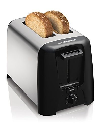 Hamilton Beach Chrome 22614-IN 750W 2 Slice Pop-Up Toaster