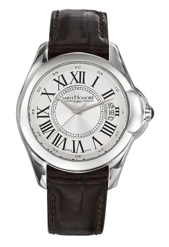 Saint Honore Women's 766030 1ARF Coloseo Brown Patent Leather Roman Numeral Watch