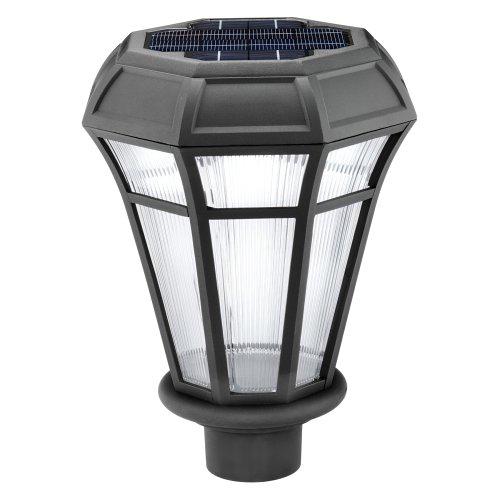 Malibu Outdoor Metal Bollard Four Light Solar Powered Light Kit LZ635RP4 LZ6