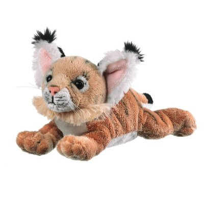 "9"" Bobcat Cub Plush Stuffed Animal Toy"