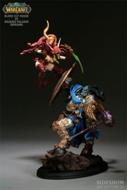 Picture of Sideshow Warcraft - Blood Elf Rogue VS Draenei Paladin Diorama Figure (B001BYN33U) (Sideshow Action Figures)