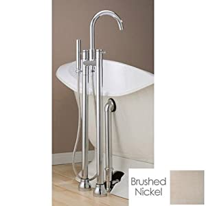 Cheviot Floor Mount Faucet Tub Faucet 7565BN Brushed Nickel