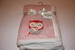 Super Soft Baby Blanket with Owl Aplique 30x30\