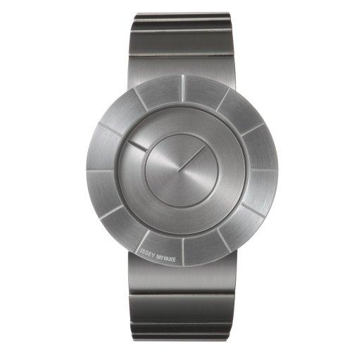 Issey Miyake SILAN001 - Reloj para hombres, correa de goma color plateado