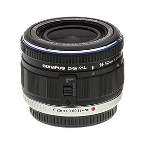 Olympus M.Zuiko 14-42mm f/3.5-5.6 Micro Digital Zoom Lens for PEN Micro 4/3 E-P1, E-P2, E-P3, E-PL1, E-PL2, E-PL3, E-PM1 Cameras - Black