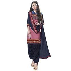 Bhelpuri Women Light Pink Cotton Dress Material