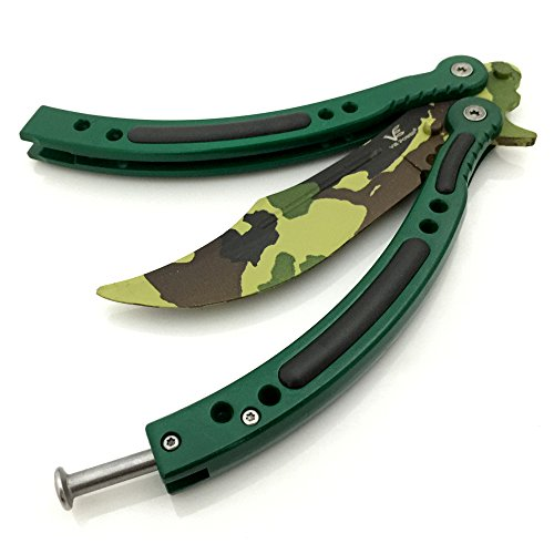 VE POWER Sports Camouflage Cross Fire Go Knife Handle Practice Trainer Knife (No Offensive Blade)