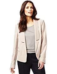Autograph Shawl Collar Open Front Jacket