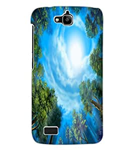 ColourCraft Amazing Tree and Sky Look Design Back Case Cover for HUAWEI HONOR HOLLY