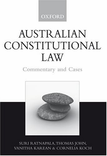 australian constitutional law essay The constitution of australia is the supreme law under which the government of the commonwealth of australia  winterton's australian federal constitutional law (3.