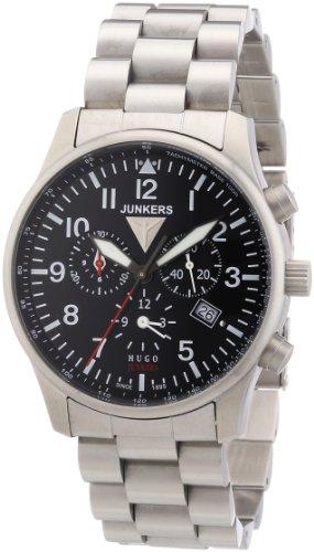 Junkers 6684M2 - Orologio da polso uomo, acciaio inox, colore: argento