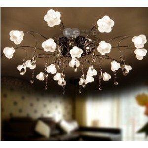 Loco lampadario con cristalli e lampadine pendenti - Lampadari per camere da letto classiche ...
