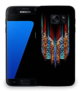 Snoogg Abstract Mask Designer Protective Back Case Cover For SAMSAMSUNG S7
