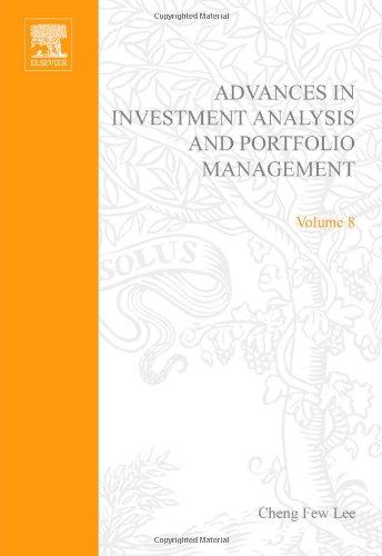 Advances in Investment Analysis and Portfolio Management: Vol 8