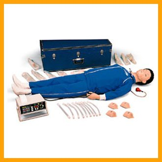 Nasco - White CPARLENE Full Manikin with Memory and Printer, Sanitary Head & Molded Hair