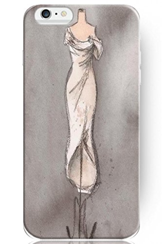 Sprawl Love Melody Design Hard Plastic Case Cover For Iphone 6 Plus (5.5'') -- Pencil Sketch For Wedding Dress